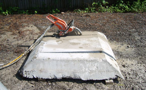 Diamond ring sawing