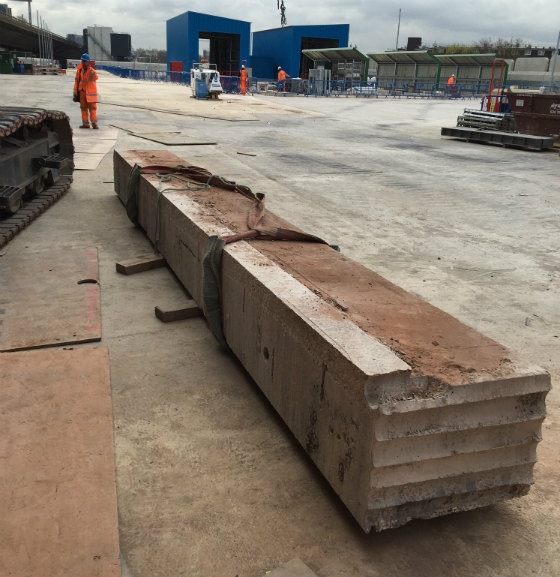 Paddington New Yard garage wall track sawing
