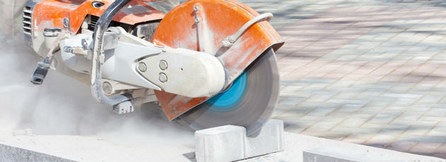 concrete sawing process