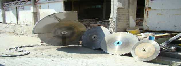 equipment for concrete sawing