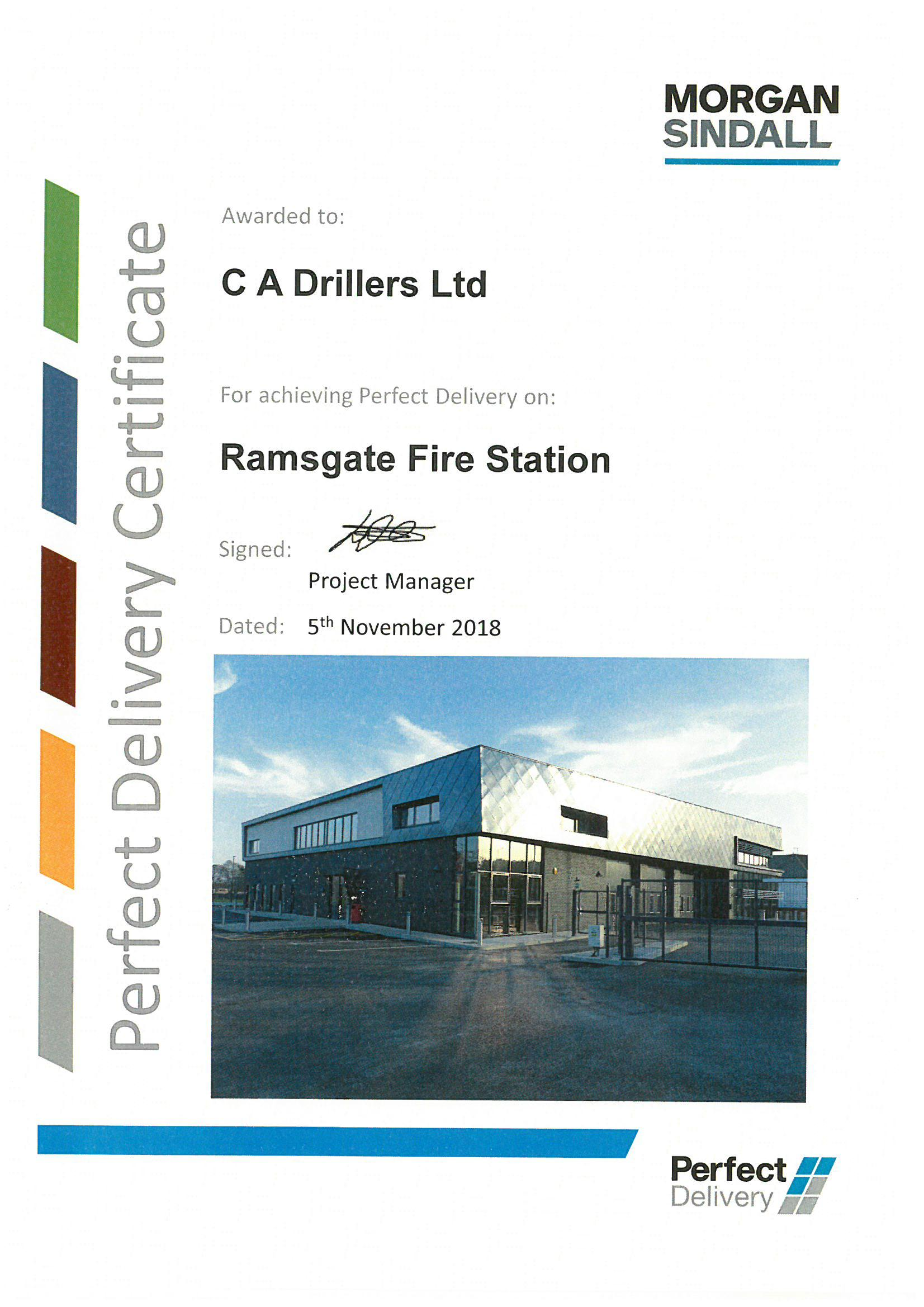 Certificate From Ramsgate Fire Station